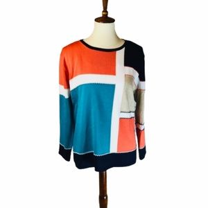 Alfred Dunner Color Block Sweater NWT